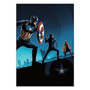 Хардпостер (на твёрдой основе) Captain America